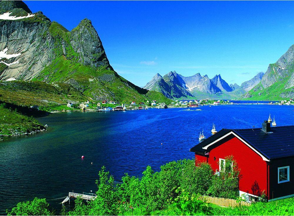 Пазлы «Норвежский фьорд»Ravensburger<br><br><br>Артикул: 14176<br>Размер: 49x36 см