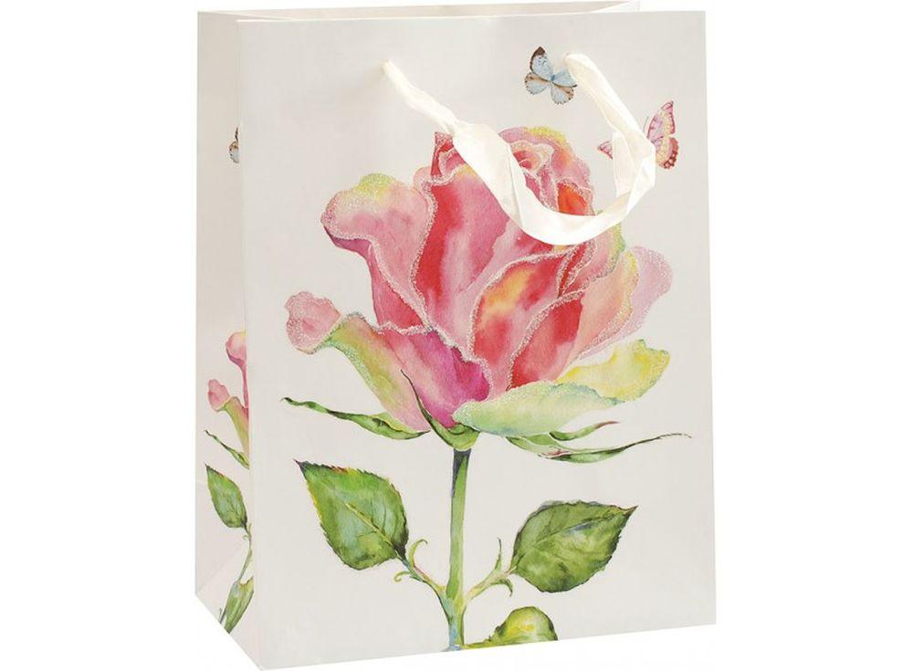 Подарочный пакет «Цветущая роза»Подарочные пакеты<br><br><br>Артикул: 1550-SB<br>Размер: 18x10x23