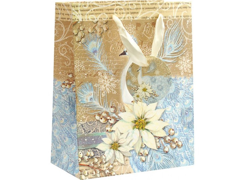 Подарочный пакет «Магический павлин»Подарочные пакеты<br><br><br>Артикул: 1612-SB<br>Размер: 18x10x23 см