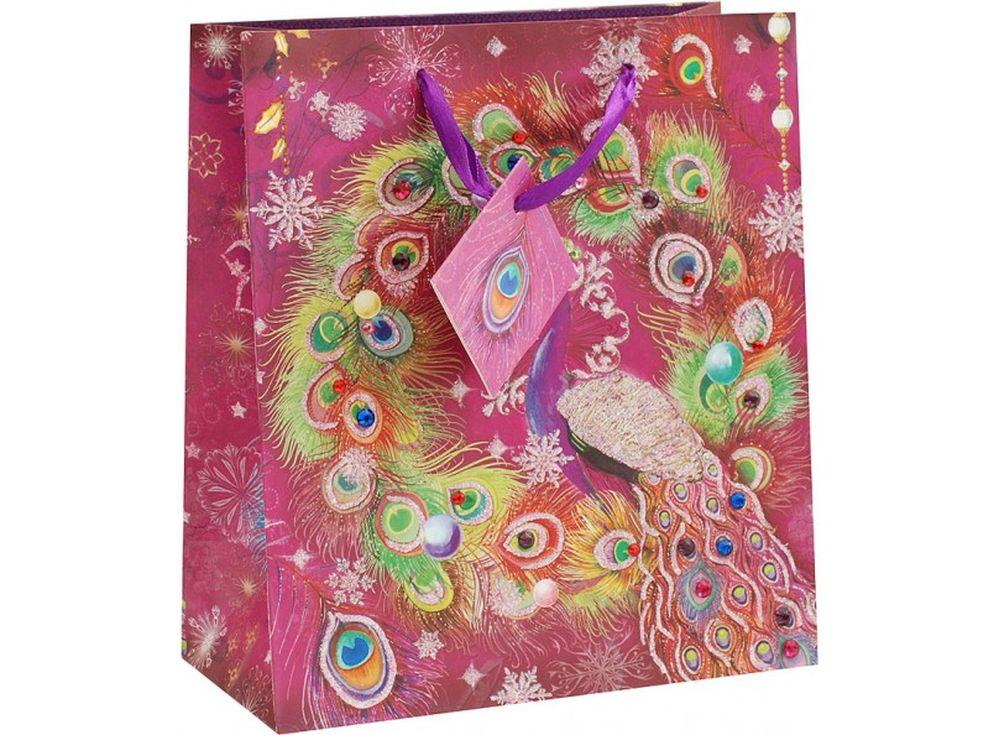 Подарочный пакет «Перо павлина»Подарочные пакеты<br><br><br>Артикул: 1614-SB<br>Размер: 20,3x10,3x23 см