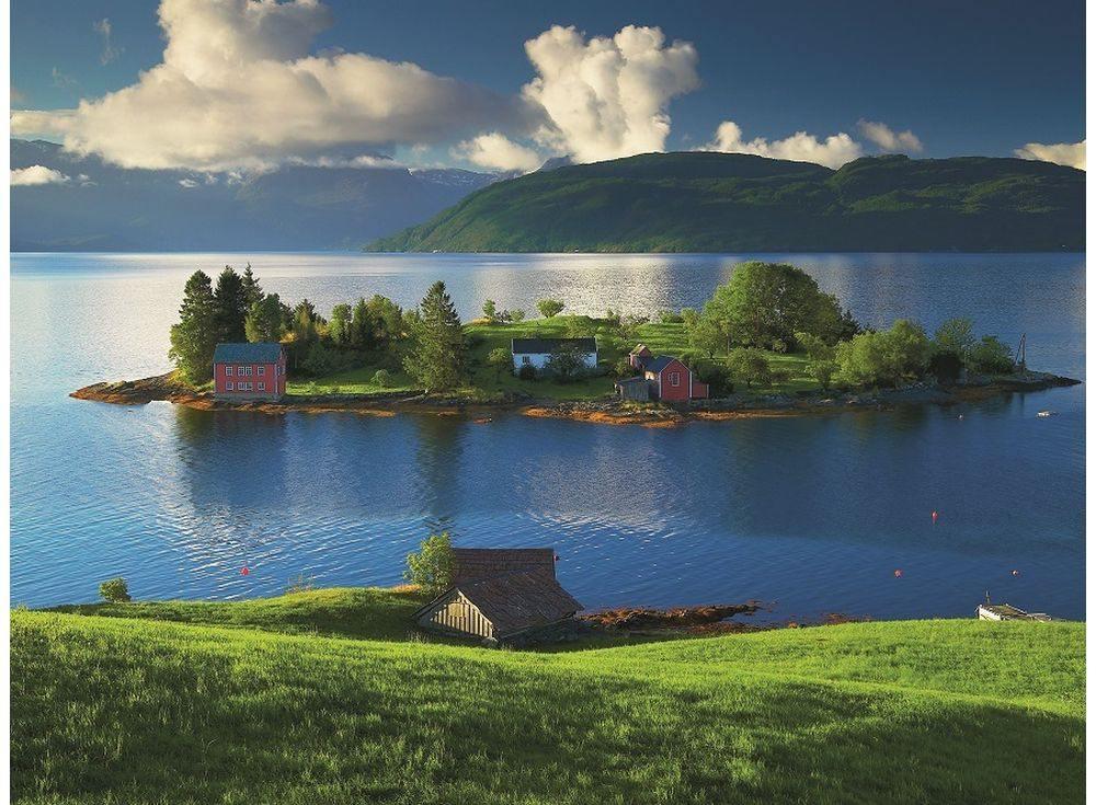 Пазлы «Остров в Норвегии»Ravensburger<br><br><br>Артикул: 16257<br>Размер: 80x60 см