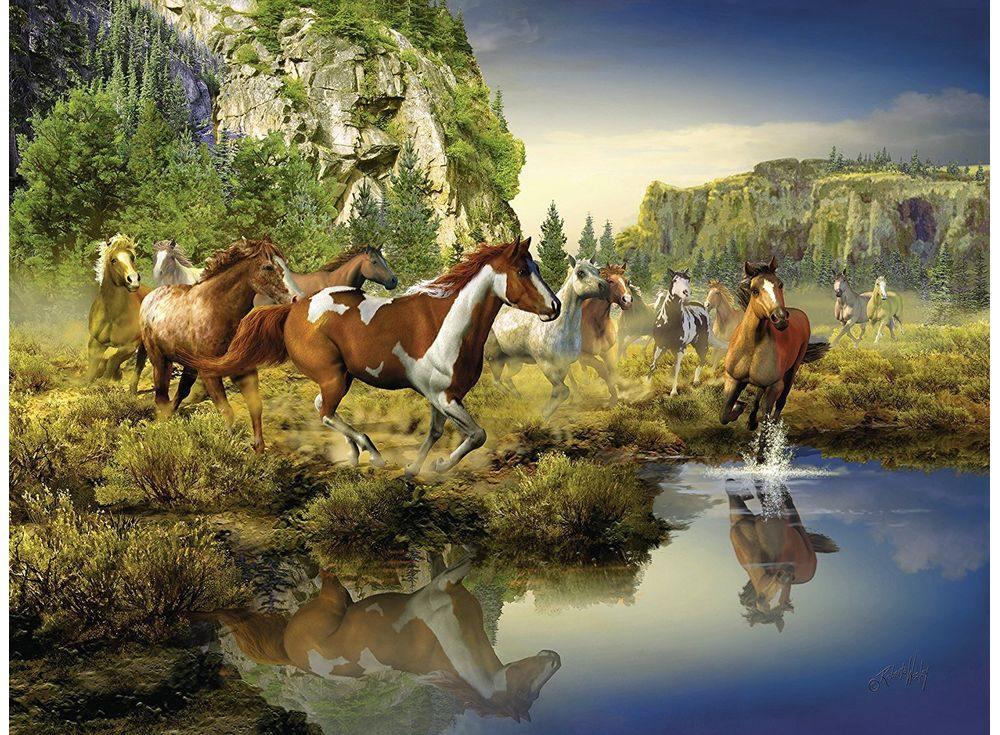 Пазлы «Дикие лошади»Ravensburger<br><br><br>Артикул: 16304<br>Размер: 80x60 см