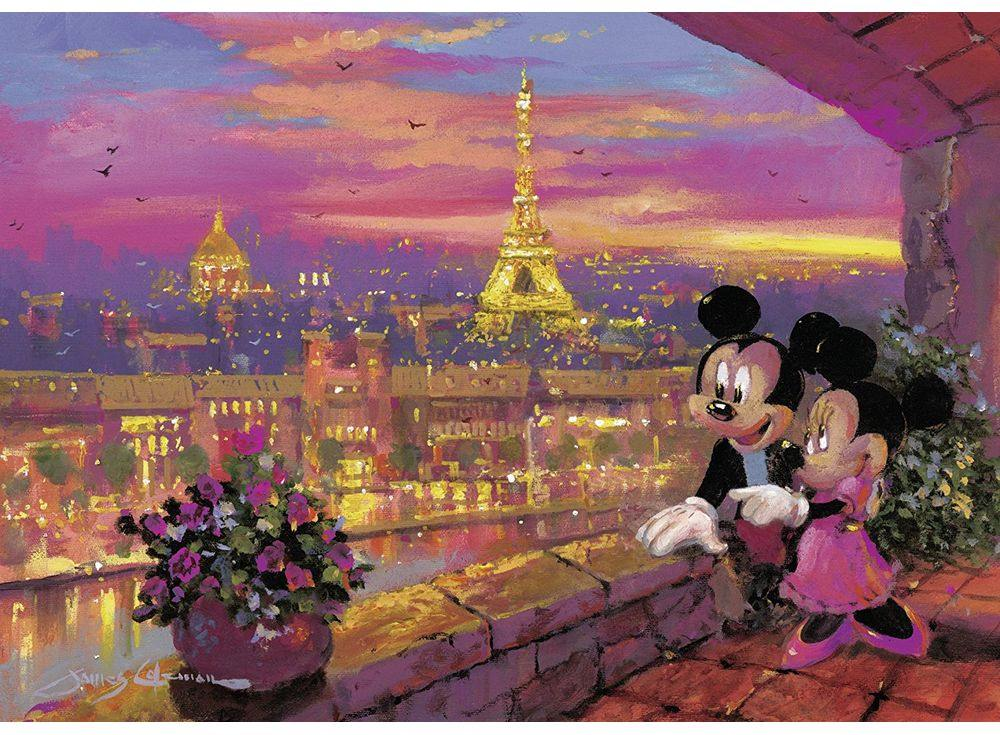 Пазлы «Микки и Минни в Париже»Ravensburger<br><br><br>Артикул: 19327<br>Размер: 50x70 см