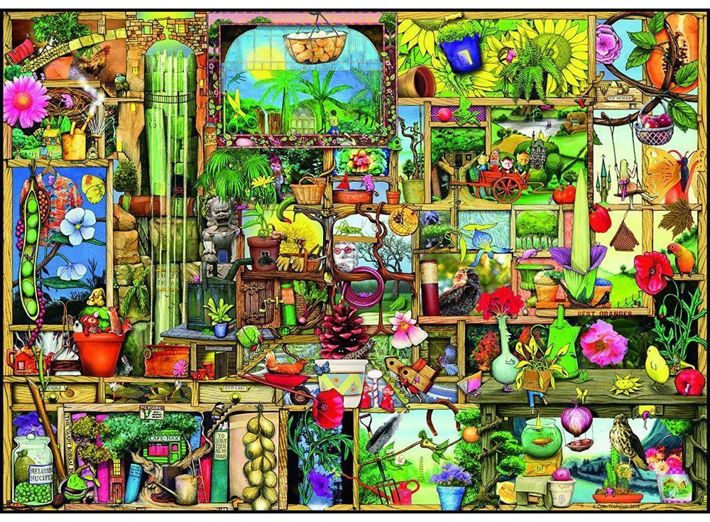 Пазлы «Шкаф садовника»Ravensburger<br><br><br>Артикул: 19482<br>Размер: 50x70 см