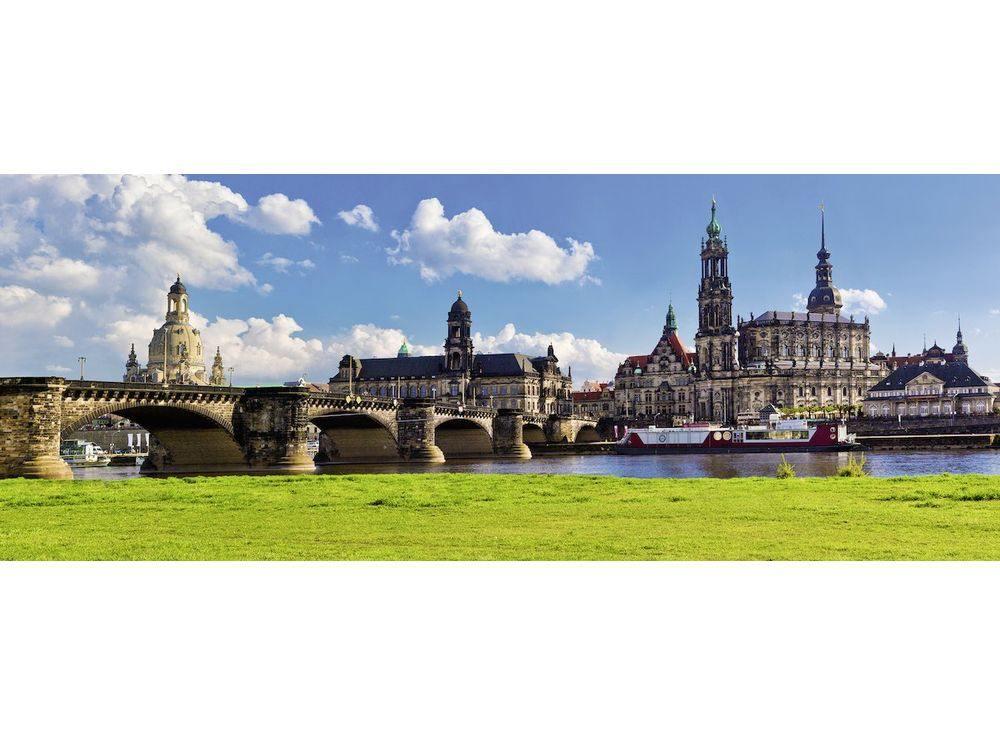 Пазлы «Вид на Каналетто, Дрезден»Ravensburger<br><br><br>Артикул: 19619<br>Размер: 98x37 см