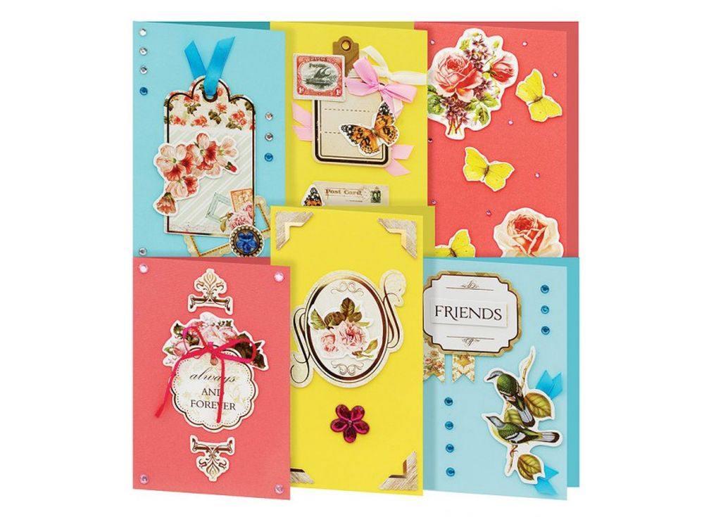 Набор из 6-ти открыток «Реверанс»Наборы для создания открыток<br><br><br>Артикул: 224-SB
