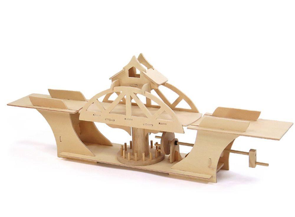 3D-конструктор «Мост вращающийся D-014»Конструкторы Pathfinders<br>Мост поворотный<br> Вращающиеся мосты — замечательное достижение инженерной мысли. Как устроена эта замечательная конструкция? Ответить поможет замечательная деревянная модель от бренда Pathfinders. Это не стандартный пластмассовый конструктор, это редкая в...<br><br>Артикул: 2665<br>Размер: 71x10x28 см<br>Материал: Дерево<br>Вес упаковки: 410 г<br>Размер упаковки: 6x33x1 см<br>Возраст: от 7 лет