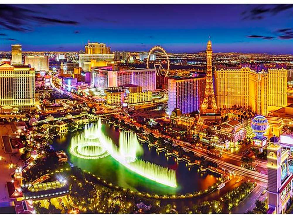 Пазлы «Лас-Вегас ночью»Trefl<br><br><br>Артикул: 27081<br>Размер: 96x68 см