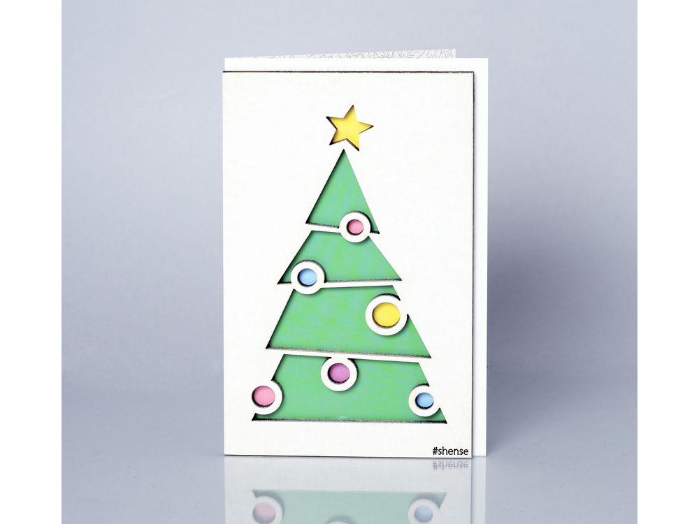 Открытка «Ёлочка»Деревянные открытки<br>Деревянные открытки и денежные конверты - прекрасная возможность сделать яркий подарок для тех, кто ценит оригинальность, однако не забывает о традициях. И креативность такого презента заключена не только в необычной деревянной первой странице, ведь в...<br><br>Артикул: 282<br>Размер: 160 х 106 мм<br>Материал: Дерево, бумага