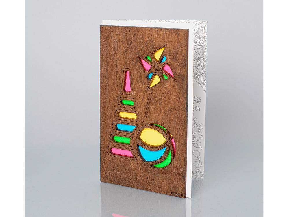 Открытка «Игрушки», полисандрДеревянные открытки<br>Деревянные открытки и денежные конверты - прекрасная возможность сделать яркий подарок для тех, кто ценит оригинальность, однако не забывает о традициях. И креативность такого презента заключена не только в необычной деревянной первой странице, ведь в...<br><br>Артикул: 3.7.1<br>Размер см: 16 x 10,6<br>Материал: Дерево, бумага<br>Упаковка: прозрачная полиэтиленовая пленка-конверт