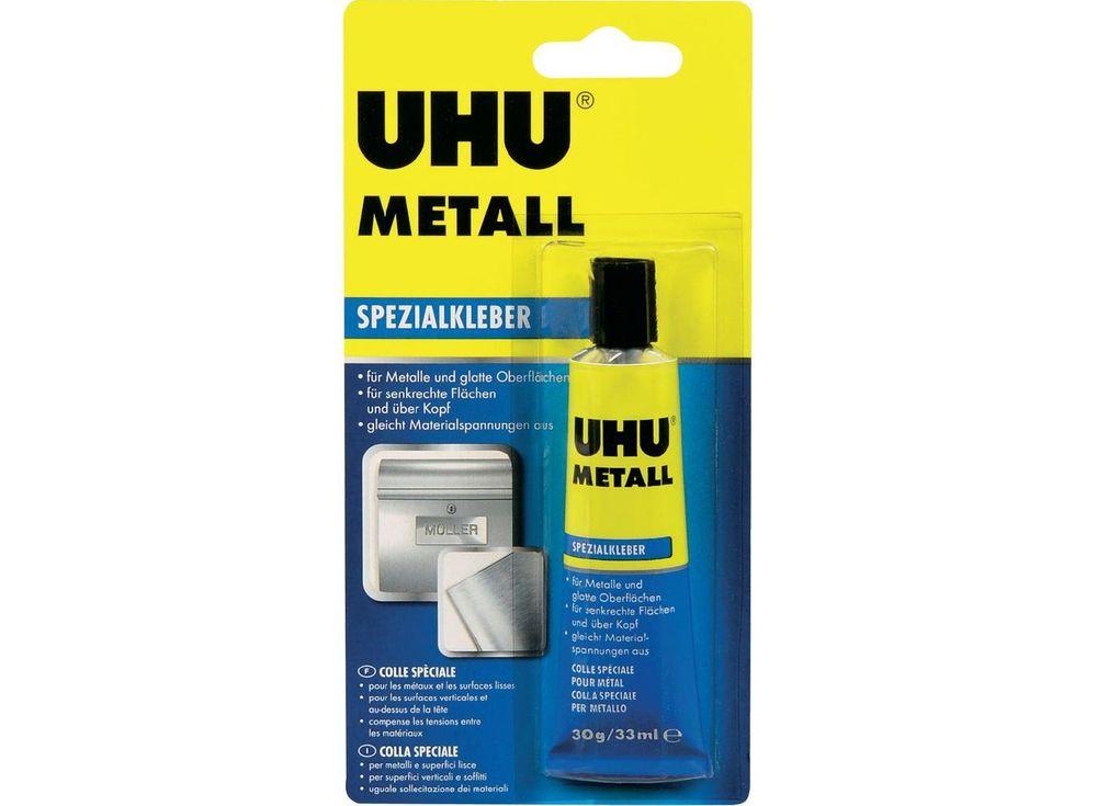Контактный клей UHU Metall для металлаКлей для рукоделия<br><br><br>Артикул: 46670<br>Размер: 33 мл / 30 г