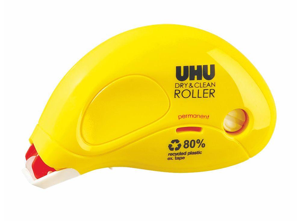 Клеевой роллер UHU Dry&amp;CleanКлей для рукоделия<br><br><br>Артикул: 50465<br>Размер: 8,5 м x 6,5 мм