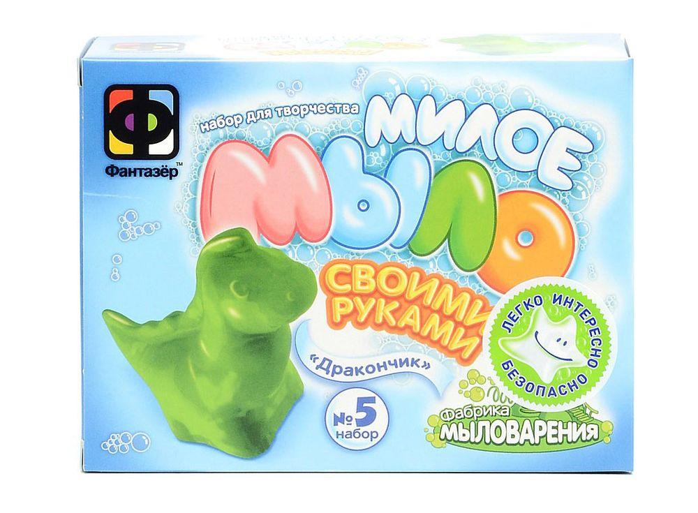 Милое мыло «Дракончик»Мыло своими руками<br><br><br>Артикул: 980105<br>Размер упаковки: 11x14,5x5 см<br>Возраст: от 3 лет