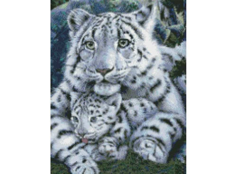 Алмазная вышивка Цветной Стразы «Нежная хищница» A026