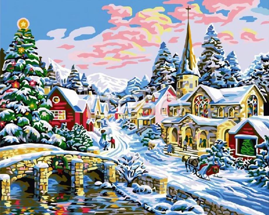 «Рождественская суета»Iteso<br><br><br>Артикул: A226<br>Основа: Холст<br>Сложность: очень сложные<br>Размер: 40x50<br>Количество цветов: 23<br>Техника рисования: Без смешивания красок