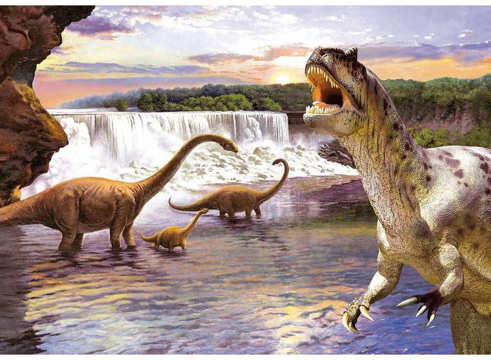 Пазлы «Динозавры»Пазлы от производителя Castorland<br><br><br>Артикул: B26616<br>Размер: 32x23 см
