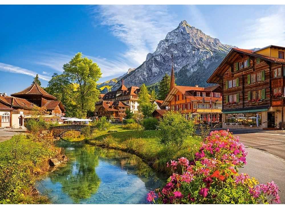 Пазлы «Кандерштег, Швейцария»Пазлы от производителя Castorland<br><br><br>Артикул: B52363<br>Размер: 47x33 см