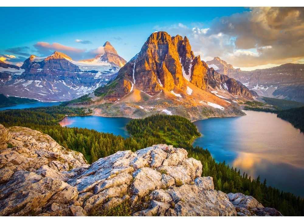 Пазлы «Национальный парк Банф, Канада»Пазлы от производителя Castorland<br><br><br>Артикул: C103423<br>Размер: 68x47 см