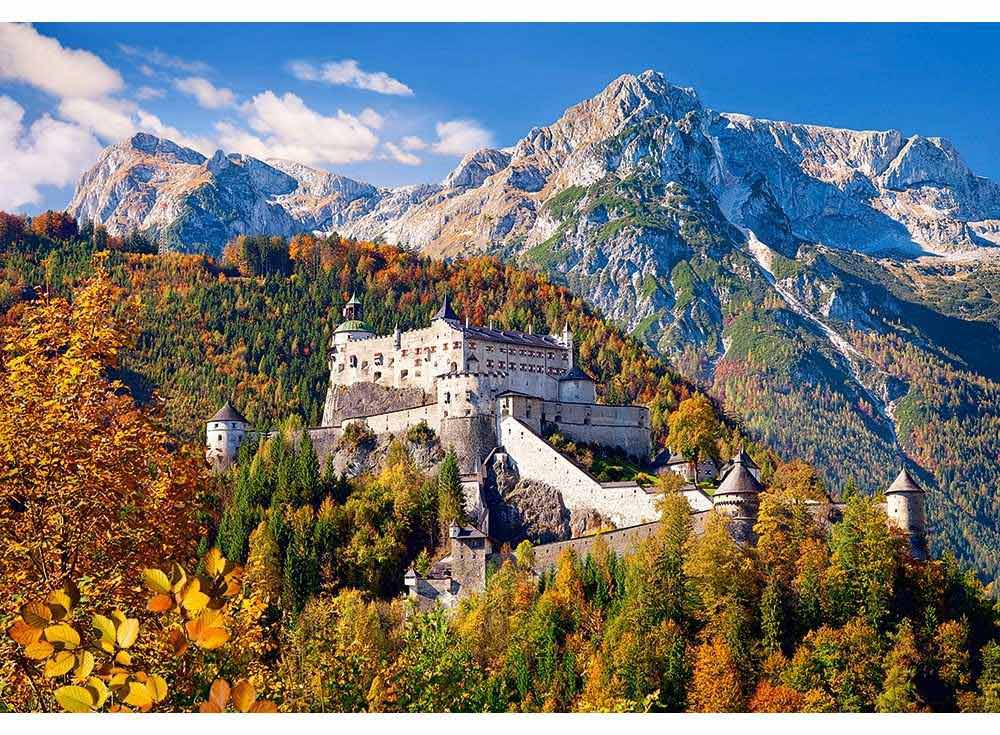 Пазлы «Замок в горах, Австрия»Пазлы от производителя Castorland<br><br><br>Артикул: C103454<br>Размер: 68x47 см
