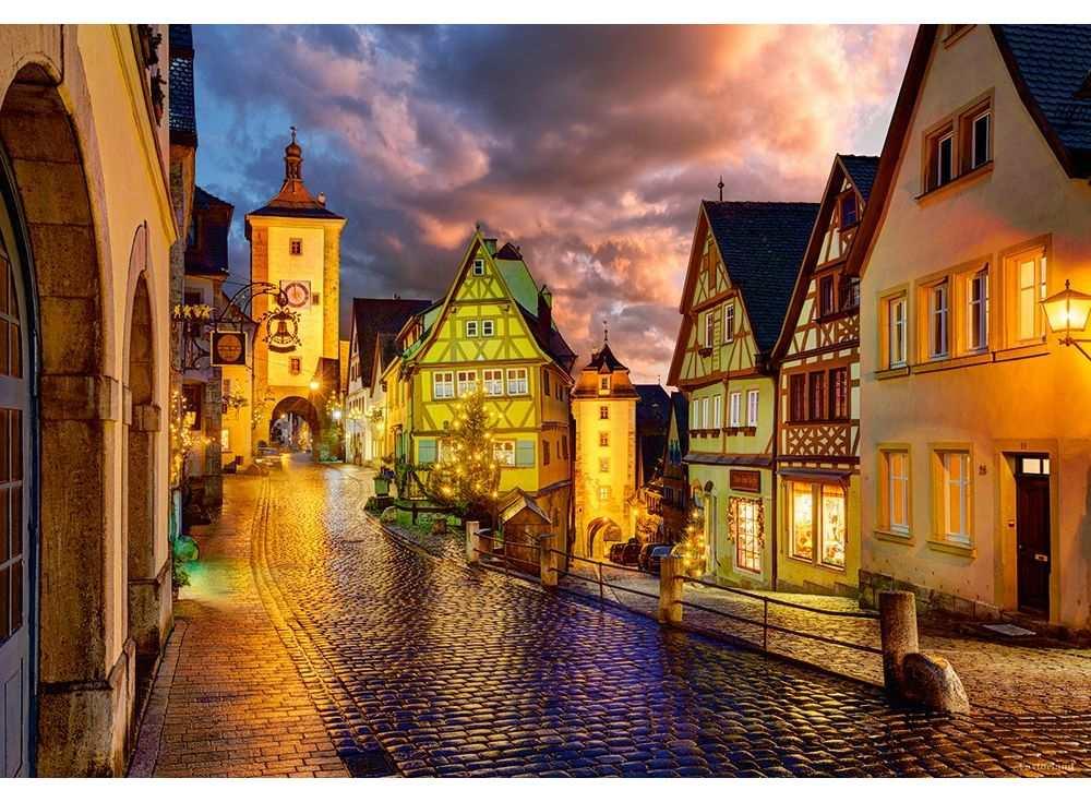 Пазлы «Ротенбург ночью. Германия»Пазлы от производителя Castorland<br><br><br>Артикул: C103461<br>Размер: 68x47 см