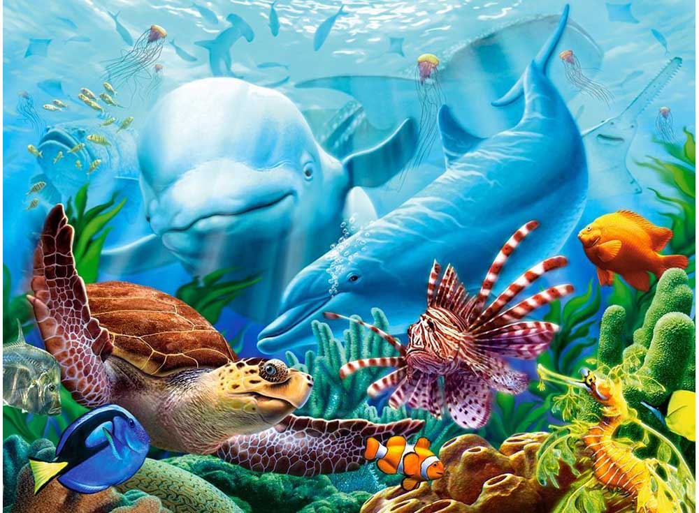 Пазлы «Жизнь океана»Пазлы от производителя Castorland<br><br><br>Артикул: C200627<br>Размер: 92x68 см