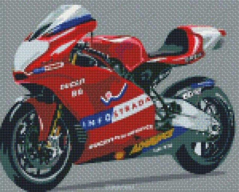 Алмазная вышивка Цветной Стразы «Мотоцикл» C585