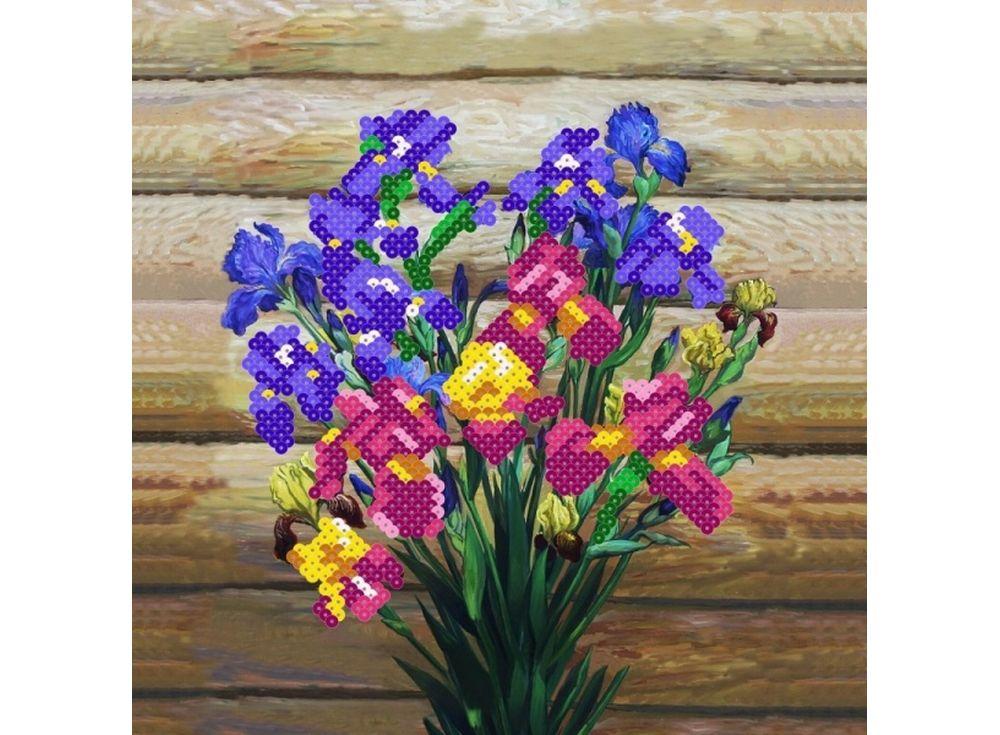 Мозаика из пайеток «Ирисы»Мозаика из пайеток<br><br><br>Артикул: CMD001<br>Размер: 30x30 см<br>Количество цветов: 10<br>Возраст: от 8 лет