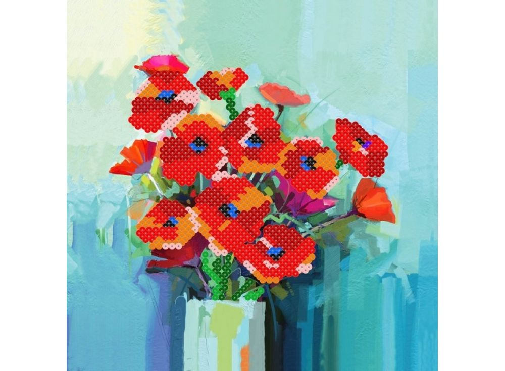Мозаика из пайеток «Маки»Мозаика из пайеток<br><br><br>Артикул: CMD002<br>Размер: 30x30 см<br>Количество цветов: 8<br>Возраст: от 8 лет