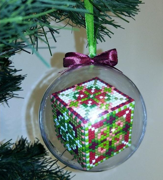 Мозаичный шар «Рождественский 1»