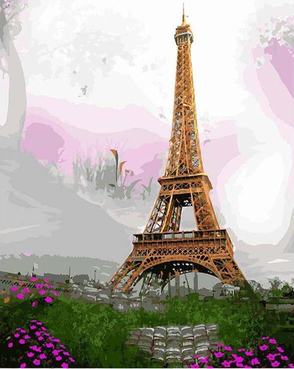 «Эйфелева башня»Paintboy (Premium)<br><br><br>Артикул: GX3284<br>Основа: Холст<br>Сложность: средние<br>Размер: 40x50<br>Количество цветов: 25<br>Техника рисования: Без смешивания красок