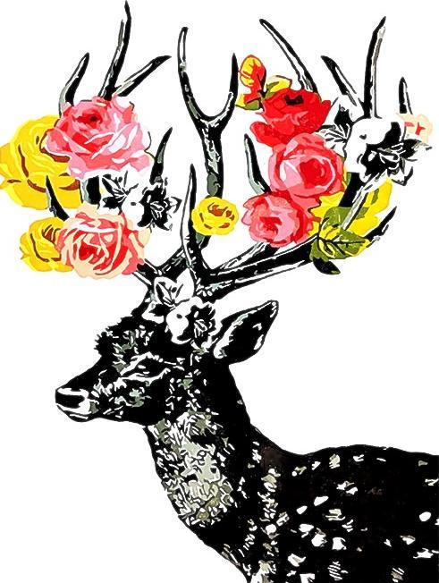 Картина по номерам «Олень в цветах»Paintboy (Premium)<br><br><br>Артикул: GX3447<br>Основа: Холст<br>Сложность: легкие<br>Размер: 40x50 см<br>Количество цветов: 18<br>Техника рисования: Без смешивания красок