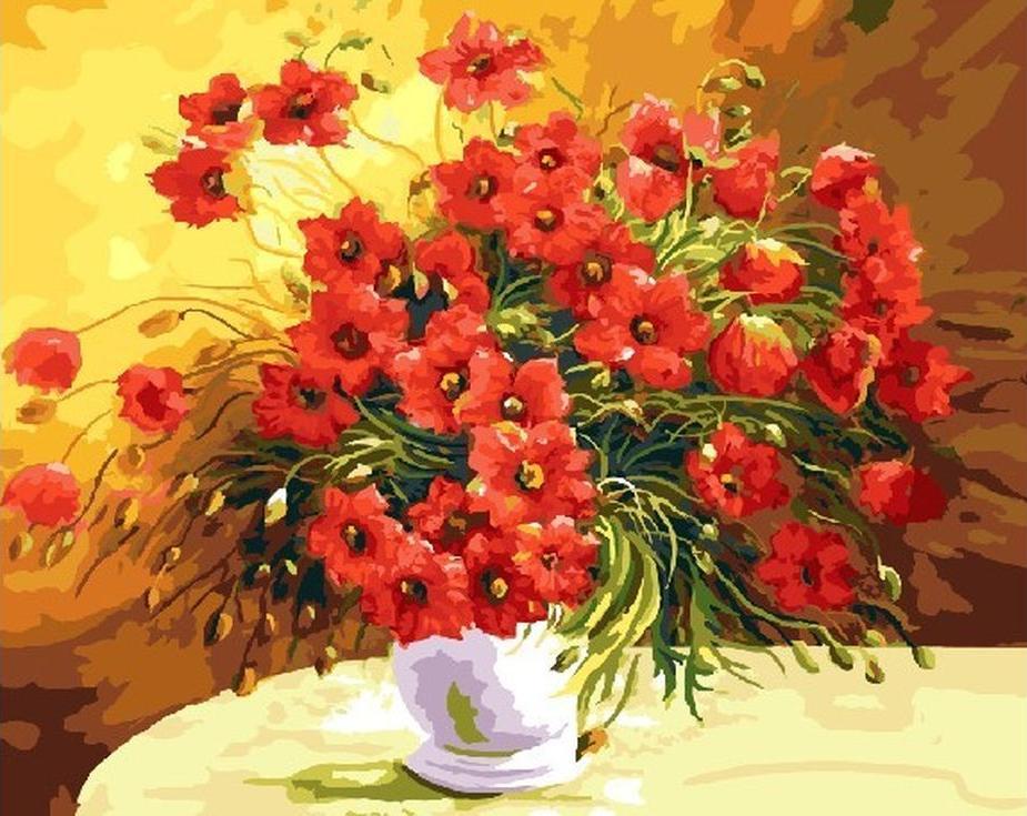 Купить Картина по номерам «Красный букет» Антонио Джанильятти, Paintboy (Original)