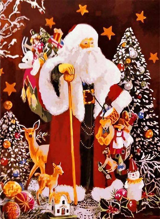 «Радость Рождества» Сьюзан РиосPaintboy (Premium)<br><br><br>Артикул: GX3481<br>Основа: Холст<br>Сложность: средние<br>Размер: 40x50 см<br>Количество цветов: 24<br>Техника рисования: Без смешивания красок