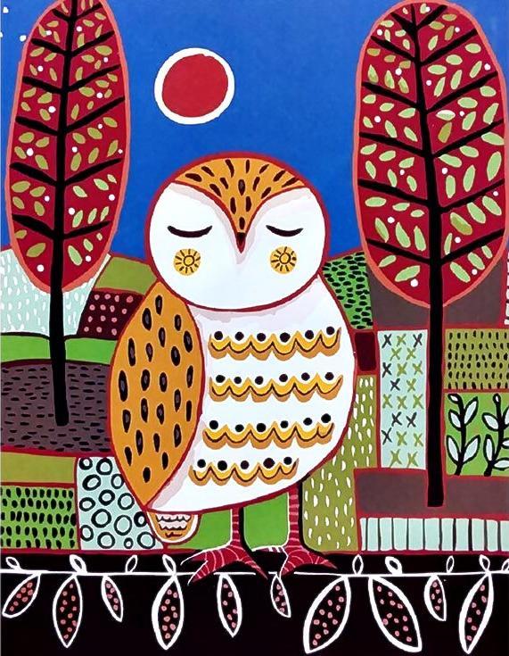 «Белая сова» Карлы ЖерарPaintboy (Premium)<br><br><br>Артикул: GX3526<br>Основа: Холст<br>Сложность: легкие<br>Размер: 40x50 см<br>Количество цветов: 18<br>Техника рисования: Без смешивания красок