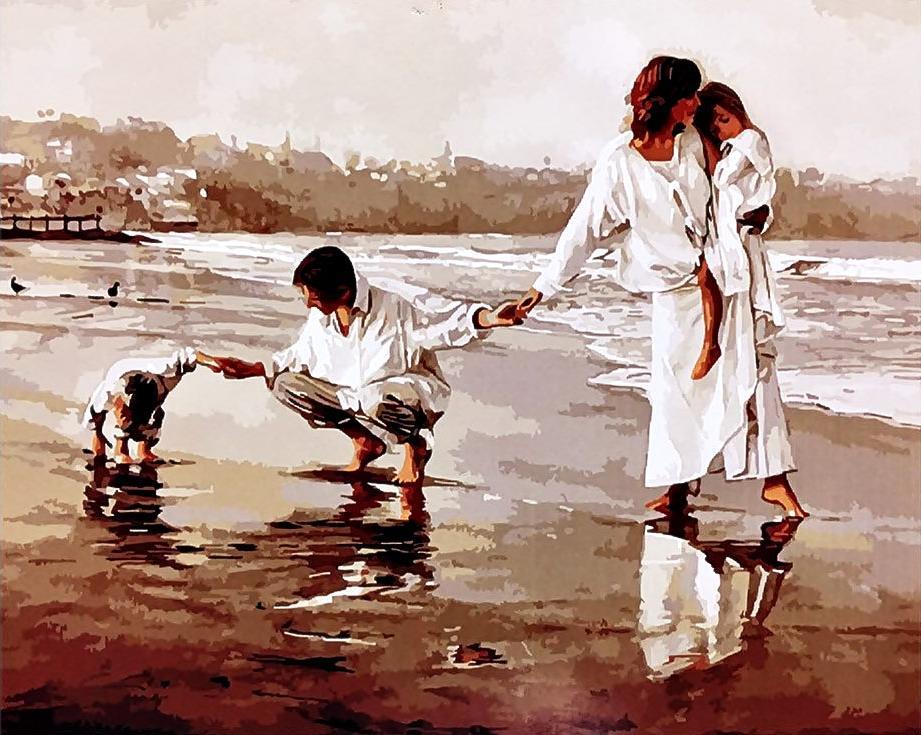 Картина по номерам «Объединяя семью» Стива ХэнксаРаскраски по номерам<br><br>