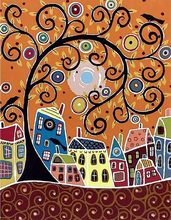 Картина по номерам «Голубая луна» Карлы ЖерарРаскраски по номерам<br><br>