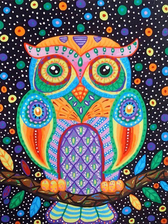 «Разноцветная сова»Paintboy (Premium)<br><br><br>Артикул: GX3573<br>Основа: Холст<br>Сложность: сложные<br>Размер: 40x50<br>Количество цветов: 25<br>Техника рисования: Без смешивания красок