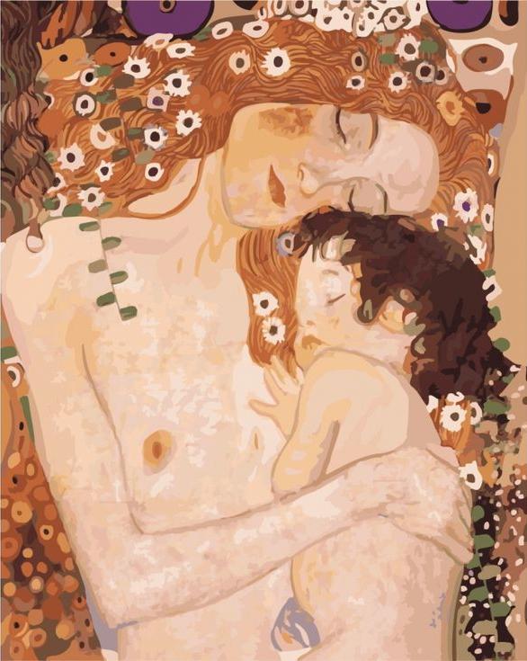 «Мать и дитя» Густава КлимтаPaintboy (Premium)<br><br><br>Артикул: GX6398<br>Основа: Холст<br>Сложность: сложные<br>Размер: 40x50 см<br>Количество цветов: 25<br>Техника рисования: Без смешивания красок