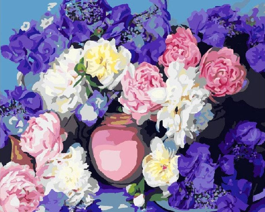 Картина по номерам «Красочный букет»Paintboy (Premium)<br><br><br>Артикул: GX7574<br>Основа: Холст<br>Сложность: средние<br>Размер: 40x50 см<br>Количество цветов: 27<br>Техника рисования: Без смешивания красок