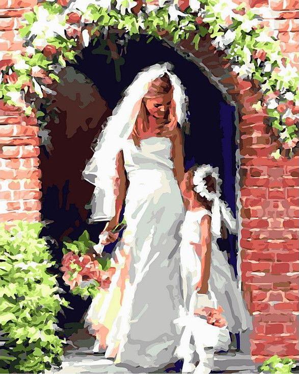Картина по номерам «Невеста с подружкой» Ричарда МакнейлаPaintboy (Premium)<br><br><br>Артикул: GX8092<br>Основа: Холст<br>Сложность: сложные<br>Размер: 40x50 см<br>Количество цветов: 25<br>Техника рисования: Без смешивания красок