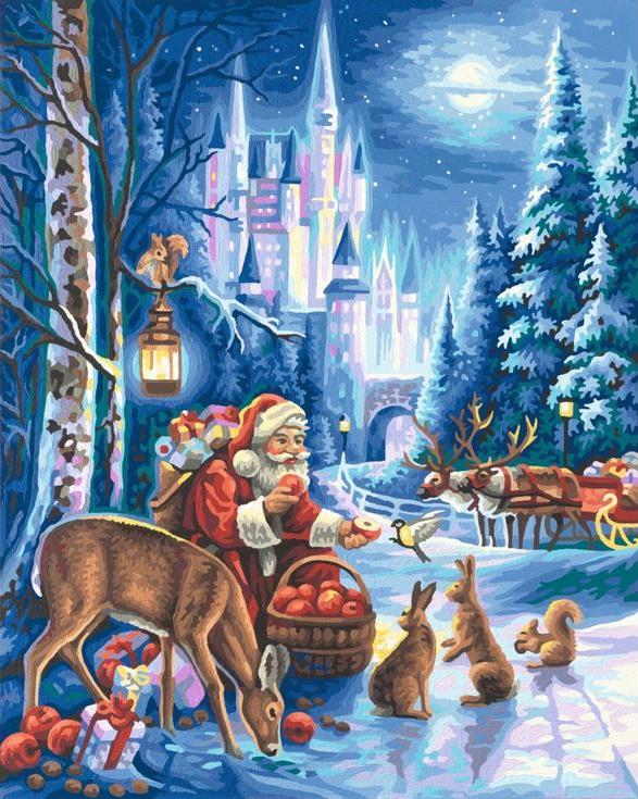 «Празднование Рождества»Paintboy (Premium)<br><br><br>Артикул: GX9209<br>Основа: Холст<br>Сложность: сложные<br>Размер: 40x50<br>Количество цветов: 31<br>Техника рисования: Без смешивания красок