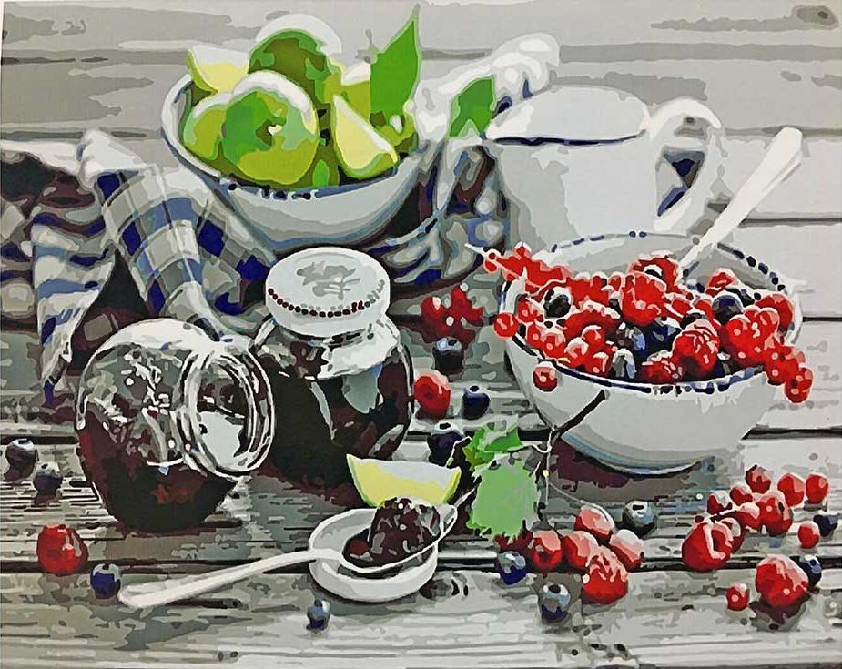 Картина по номерам «Варенье и ягоды»Paintboy (Premium)<br><br>