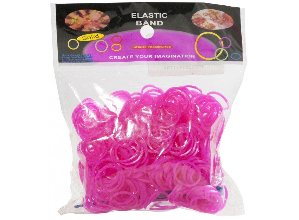 Резиночки для плетенияРезинки для плетения<br><br><br>Артикул: RC-07<br>Цвет: Розовый<br>Количество резинок: 600 шт.
