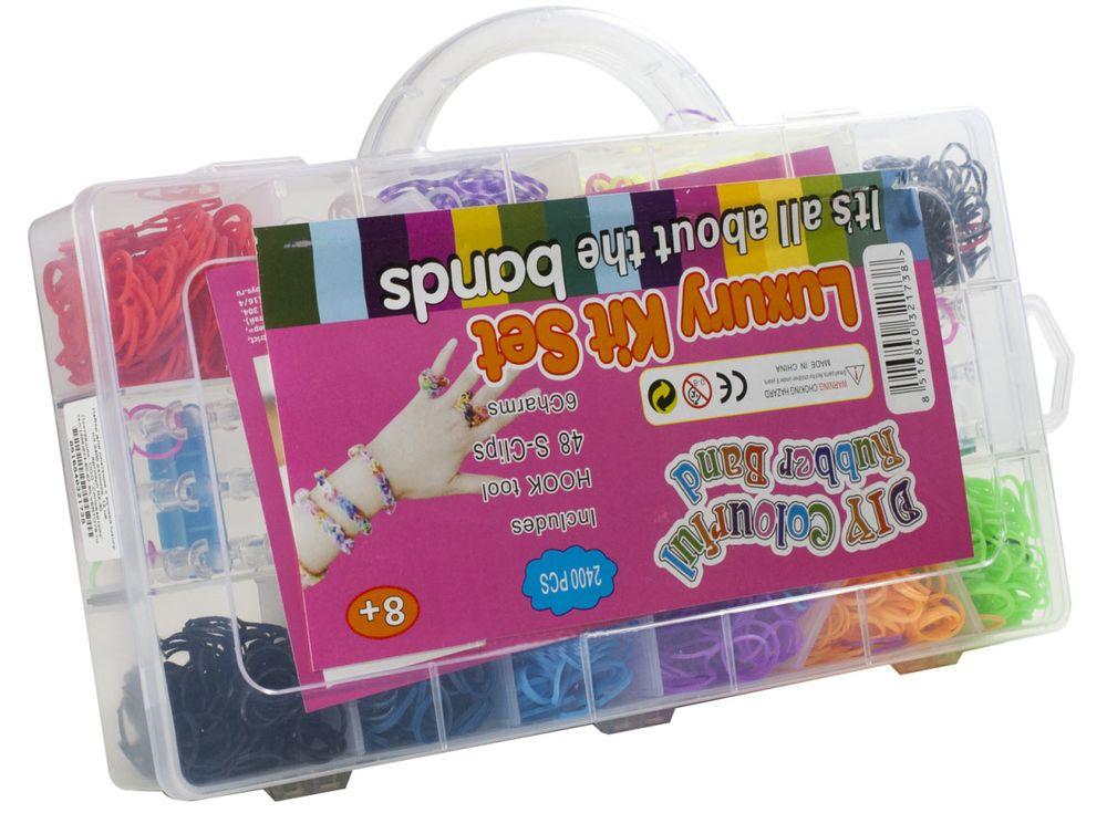 Набор для плетения из резиночекРезинки для плетения<br><br><br>Артикул: RZ-30<br>Количество резинок: 2400 шт.