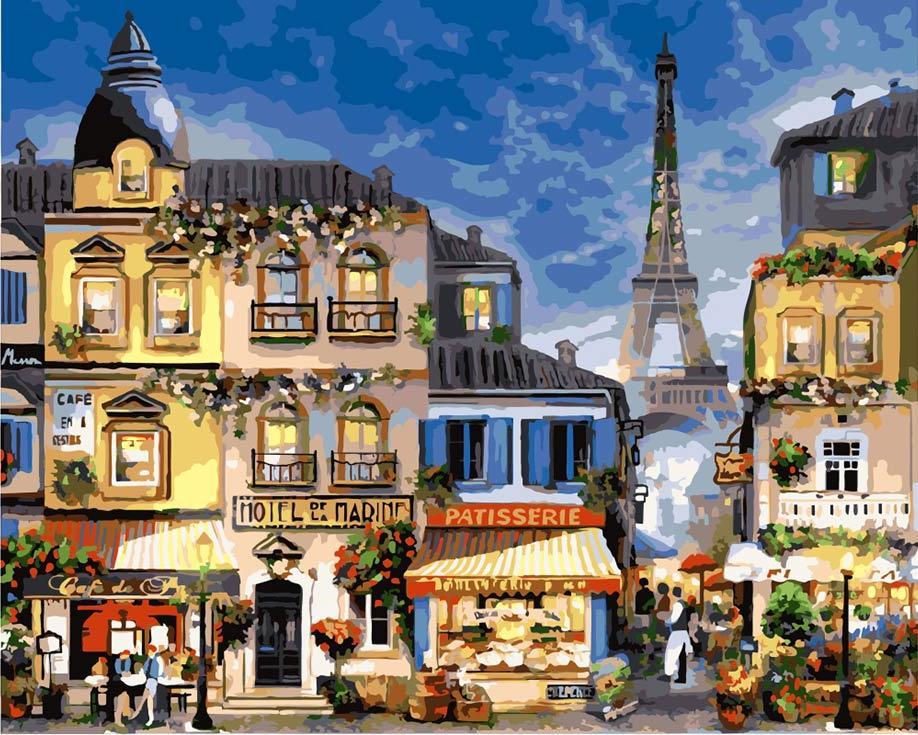 «Парижский пейзаж»Раскраски по номерам Paintboy (Original)<br><br><br>Артикул: GX3241_R<br>Основа: Холст<br>Сложность: сложные<br>Размер: 40x50 см<br>Количество цветов: 25<br>Техника рисования: Без смешивания красок