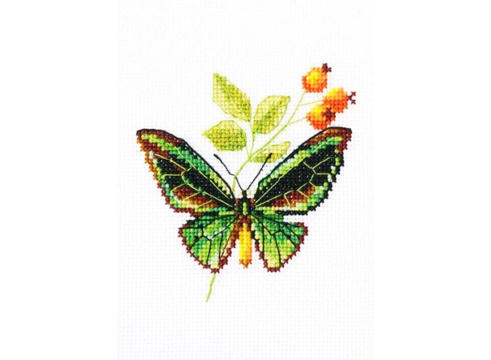 RTO Набор для вышивания «Веточка шиповника и бабочка» ЕН363