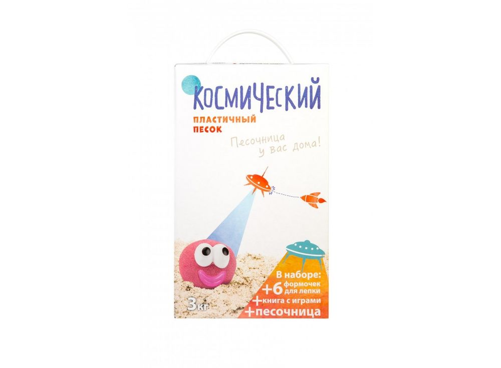 Космический песок 3 кг, сиреневый (с песочницей и формочками)Космический песок<br><br><br>Артикул: КП06С30Н<br>Вес: 3 кг<br>Цвет: Сиреневый<br>Размер упаковки: 8x30x18 см