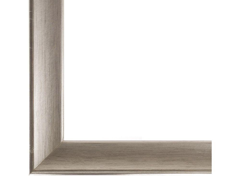 Рамка без стекла для картин «Miranda»Багетные рамки<br>Для картин на холсте на подрамнике, на картоне, алмазной вышивки на подрамнике.<br><br>Артикул: ТР 1044 БС<br>Размер: 30x40 см<br>Цвет: Серебро<br>Материал багета: Дерево