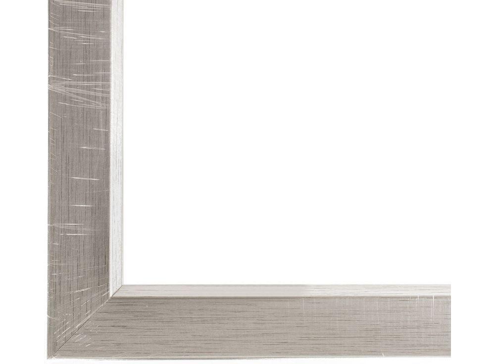 Рамка без стекла для картин «Arielle»Багетные рамки<br>Для картин на холсте на подрамнике, на картоне, алмазной вышивки на подрамнике.<br><br>Артикул: ТР 1090 БС<br>Размер: 30x40 см<br>Цвет: Серебро<br>Материал багета: Дерево<br>Глубина багета: 1 см