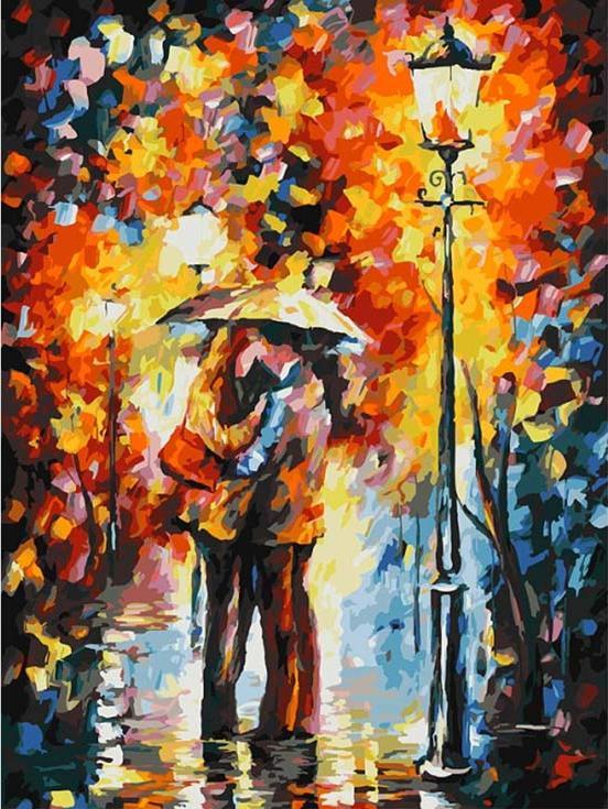 Картина по номерам «Осеннее свидание»Картины по номерам Белоснежка<br><br><br>Артикул: 029-AS<br>Основа: Холст<br>Сложность: очень сложные<br>Размер: 30x40 см<br>Количество цветов: 30<br>Техника рисования: Без смешивания красок